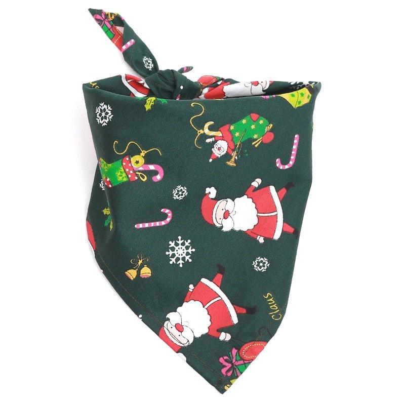 Dog Bandana Christmas Collar Scarf Bib Grooming ...