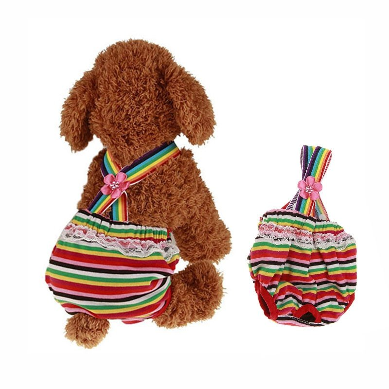 Pet Dog Puppy Diaper Pants Tighten Strap Physiological Sanitary Short Panty Diapers & Belly Bands